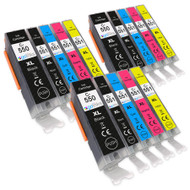 3 Go Inks Set of 5 Ink Cartridges to replace Canon PGI-550 & CLI-551 Compatible / non-OEM for PIXMA Printers (15 Pack)