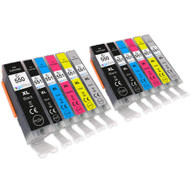 2 Go Inks Set of 6 Ink Cartridges to replace Canon PGI-550 & CLI-551 Compatible / non-OEM for PIXMA Printers (12 Pack)