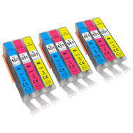 3 Go Inks C/M/Y Set of 3 Ink Cartridges to replace Canon CLI-551 Compatible / non-OEM for PIXMA Printers (9 Pack)
