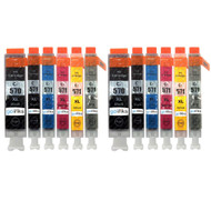 2 Go Inks Set of 6 Ink Cartridges to replace Canon PGI-570 & CLI-571 Compatible / non-OEM for PIXMA Printers (12 Pack)