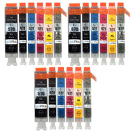 3 Go Inks Set of 6 Ink Cartridges to replace Canon PGI-570 & CLI-571 Compatible / non-OEM for PIXMA Printers (18 Pack)