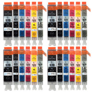 4 Go Inks Set of 6 Ink Cartridges to replace Canon PGI-570 & CLI-571 Compatible / non-OEM for PIXMA Printers (24 Pack)