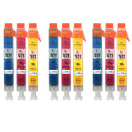 3 Go Inks C/M/Y Set of 3 Ink Cartridges to replce Canon CLI-571 Compatible / non-OEM for PIXMA Printers (9 Pack)