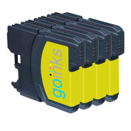 4 Go Inks Yellow Ink Cartridges to replace Brother LC985Y Compatible / non-OEM for Brother DCP & MFC Printers
