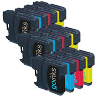 3 Go Inks Set of 4 Ink Cartridges to replace Brother LC985 Compatible / non-OEM for Brother DCP & MFC Printers (12 Inks)