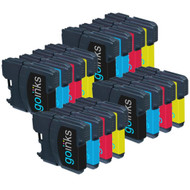 4 Go Inks Set of 4 Ink Cartridges to replace Brother LC985 Compatible / non-OEM for Brother DCP & MFC Printers (16 Inks)