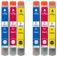 2 Go Inks Set of 3 Ink Cartridges to replace Epson T2636 (26XL Series) C/M/Y Compatible / non-OEM for Epson Expression Premium Printers (6 Inks)
