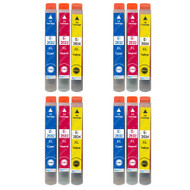 4 Go Inks Set of 3 Ink Cartridges to replace Epson T2636 (26XL Series) C/M/Y Compatible / non-OEM for Epson Expression Premium Printers (12 Inks)