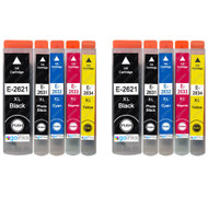2 Go Inks Set of 5 Ink Cartridges to replace Epson T2636 (26XL Series) Compatible / non-OEM for Epson Expression Premium Printers (10 Inks)