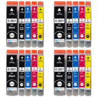 4 Go Inks Set of 5 Ink Cartridges to replace Epson T2636 (26XL Series) Compatible / non-OEM for Epson Expression Premium Printers (20 Inks)