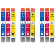 3 Go Inks Set of 3 Ink Cartridges to replace Epson T2636 (26XL Series) C/M/Y Compatible / non-OEM for Epson Expression Premium Printers (9 Inks)