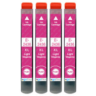 4 Go Inks Light Magenta Ink Cartridges to replace Epson T2436 (24XL Series) Compatible / non-OEM for Epson Expression Photo Printers