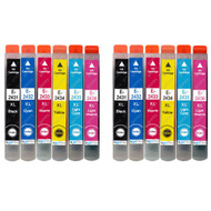 2 Go Inks Set of 6 Ink Cartridges to replace Epson T2438 (24XL Series) Compatible / non-OEM for Epson Workforce Printers (12 Inks)