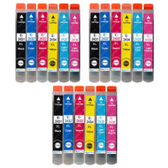 3 Go Inks Set of 6 Ink Cartridges to replace Epson T2438 (24XL Series) Compatible / non-OEM for Epson Workforce Printers (18 Inks)