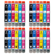 4 Go Inks Set of 6 Ink Cartridges to replace Epson T2438 (24XL Series) Compatible / non-OEM for Epson Workforce Printers (24 Inks)