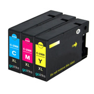 1 Go Inks C/M/Y Set of 3 Ink Cartridges to replce Canon PGI-1500XL Compatible / non-OEM for PIXMA Printers (3 Pack)