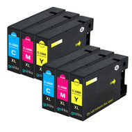 2 Go Inks C/M/Y Set of 3 Ink Cartridges to replce Canon PGI-1500XL Compatible / non-OEM for PIXMA Printers (6 Pack)
