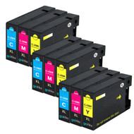 3 Go Inks C/M/Y Set of 3 Ink Cartridges to replace Canon PGI-1500XL Compatible / non-OEM for PIXMA Printers (9 Pack)