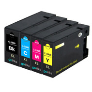 1 Go Inks Set of 4 Ink Cartridges to replace Canon PGI-1500XL Compatible / non-OEM for PIXMA Printers (4 Pack)