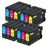 4 Go Inks C/M/Y Set of 3 Ink Cartridges to replce Canon PGI-1500XL Compatible / non-OEM for PIXMA Printers (12 Pack)