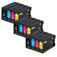 3 Go Inks Set of 4 Ink Cartridges to replace Canon PGI-1500XL Compatible / non-OEM for PIXMA Printers (12 Pack)