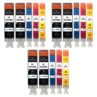 3 Go Inks Compatible Set of 4 + Extra Black to replace HP 920 Printer Ink Cartridge (15 Inks) - Black, Cyan,  Magenta, Yellow Compatible / non-OEM for HP Photosmart Printers