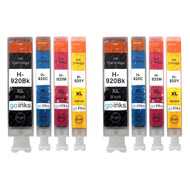 2 Go Inks Compatible Set of 4 to replace HP 920 Printer Ink Cartridge (8 Inks) - Black, Cyan,  Magenta, Yellow Compatible / non-OEM for HP Photosmart Printers