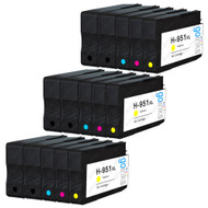 3 Go Inks Compatible Set of 4 + Extra Black to replace HP 950 & 951 Printer Ink Cartridge (15 Inks) - Black, Cyan,  Magenta, Yellow Compatible / non-OEM for HP Photosmart Printers