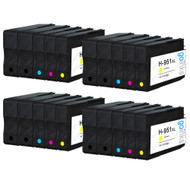 4 Go Inks Compatible Set of 4 + Extra Black to replace HP 950 & 951 Printer Ink Cartridge (20 Inks) - Black, Cyan,  Magenta, Yellow Compatible / non-OEM for HP Photosmart Printers
