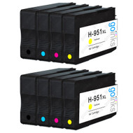 2 Go Inks Compatible Set of 4 to replace HP 950 & 951 Printer Ink Cartridge (8 Inks) - Black, Cyan,  Magenta, Yellow Compatible / non-OEM for HP Photosmart Printers