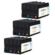 3 Go Inks Compatible Set of 4 to replace HP 950 & 951 Printer Ink Cartridge (12 Inks) - Black, Cyan,  Magenta, Yellow Compatible / non-OEM for HP Photosmart Printers