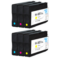 2 Go Inks Compatible C/M/Y Sets to replace HP 951 Colour Printer Ink Cartridges (6 Inks) - Cyan, Magenta, Yellow Compatible / non-OEM for HP Photosmart Printers