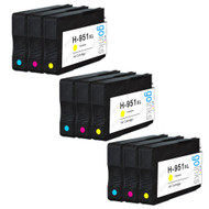3 Go Inks Compatible C/M/Y Sets to replace HP 951 Colour Printer Ink Cartridges (9 Inks) - Cyan, Magenta, Yellow Compatible / non-OEM for HP Photosmart Printers