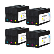 4 Go Inks Compatible C/M/Y Sets to replace HP 951 Colour Printer Ink Cartridges (12 Inks) - Cyan, Magenta, Yellow Compatible / non-OEM for HP Photosmart Printers