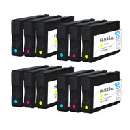 4 Go Inks Compatible C/M/Y Sets to replace HP 935 Colour Printer Ink Cartridges (12 Inks) - Cyan, Magenta, Yellow Compatible / non-OEM for HP Photosmart Printers
