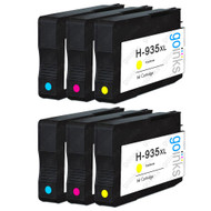 2 Go Inks Compatible C/M/Y Sets to replace HP 935 Colour Printer Ink Cartridges (6 Inks) - Cyan, Magenta, Yellow Compatible / non-OEM for HP Photosmart Printers