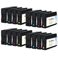 4 Go Inks Compatible Set of 4 to replace HP 934 & 935 Printer Ink Cartridge (16 Inks) - Black, Cyan,  Magenta, Yellow Compatible / non-OEM for HP Photosmart Printers