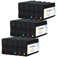 3 Go Inks Compatible Set of 4 + Extra Black to replace HP 934 & 935 Printer Ink Cartridge (15 Inks) - Black, Cyan,  Magenta, Yellow Compatible / non-OEM for HP Photosmart Printers
