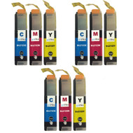 3 Go Inks Set of 3 C/M/Y Ink Cartridges to replace Brother LC123 Compatible / non-OEM for Brothe DCP & MFC Printers  (9 Inks)