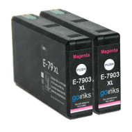 2 Go Inks Magenta Ink Cartridges to replace Epson T7903 (79XL Series) Compatible / non-OEM for Epson WorkForce Pro Printers