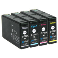 1 Go Inks Set of 4 Ink Cartridges to replace Epson T7906 (79XL Series) Compatible / non-OEM for Epson WorkForce Pro Printers (4 Inks)