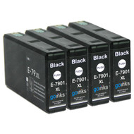 4 Go Inks Black Ink Cartridges to replace Epson T7901 (79XL Series) Compatible / non-OEM for Epson WorkForce Pro Printers