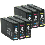 2 Go Inks Set of 3 Ink Cartridges to replace Epson T7906 (79XL Series) C/M/Y Compatible / non-OEM for Epson WorkForce Pro Printers (6 Inks)