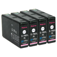 4 Go Inks Magenta Ink Cartridges to replace Epson T7903 (79XL Series) Compatible / non-OEM for Epson WorkForce Pro Printers