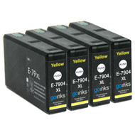 4 Go Inks Yellow Ink Cartridges to replace Epson T7904 (79XL Series) Compatible / non-OEM for Epson WorkForce Pro Printers