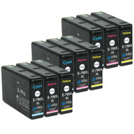 3 Go Inks Set of 3 Ink Cartridges to replace Epson T7906 (79XL Series) C/M/Y Compatible / non-OEM for Epson WorkForce Pro Printers (9 Inks)