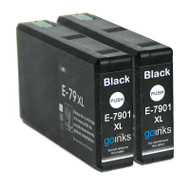 2 Go Inks Black Ink Cartridges to replace Epson T7901 (79XL Series) Compatible / non-OEM for Epson WorkForce Pro Printers