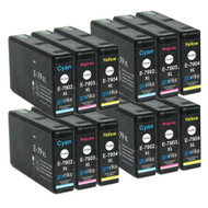 4 Go Inks Set of 3 Ink Cartridges to replace Epson T7906 (79XL Series) C/M/Y Compatible / non-OEM for Epson WorkForce Pro Printers  (12 Inks)