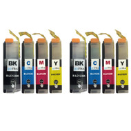 2 Go Inks Set of 4 Ink Cartridges to replace Brother LC123 Compatible / non-OEM for Brothe DCP & MFC Printers  (8 Inks)
