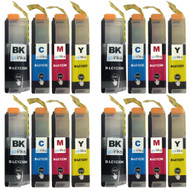 4 Go Inks Set of 4 Ink Cartridges to replace Brother LC123 Compatible / non-OEM for Brothe DCP & MFC Printers  (16 Inks)